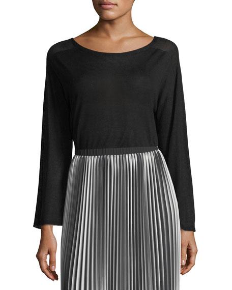 Seamless Sleek Bell-Sleeve Top, Plus Size