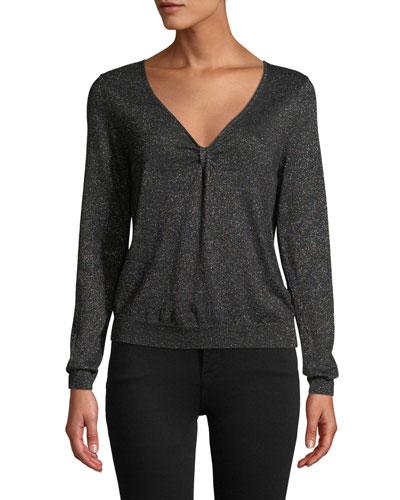 Shimmer Twist Top Sweater