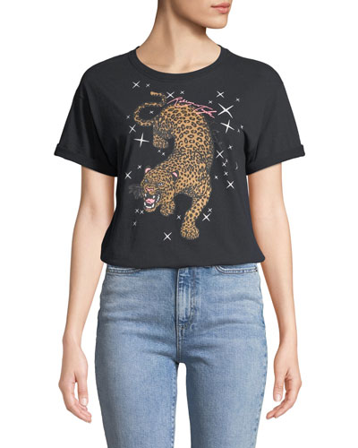 Short-Sleeve Leopard Novelty Tee