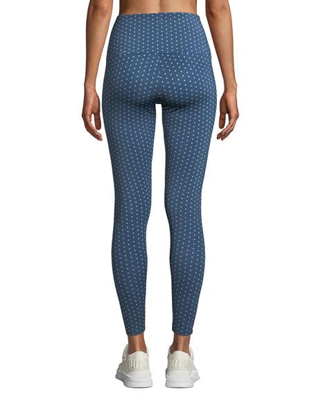 High-Rise Polka-Dot Yoga Leggings