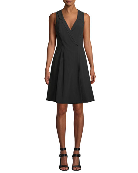 Fame And Partners THE EMBERSON V-NECK SLEEVELESS DRESS