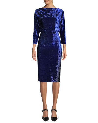 Blouson Dress in Ombre Velvet