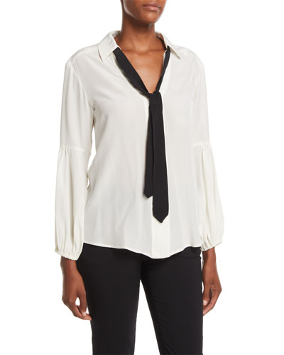 Badgirl Silk Top w/ Tie