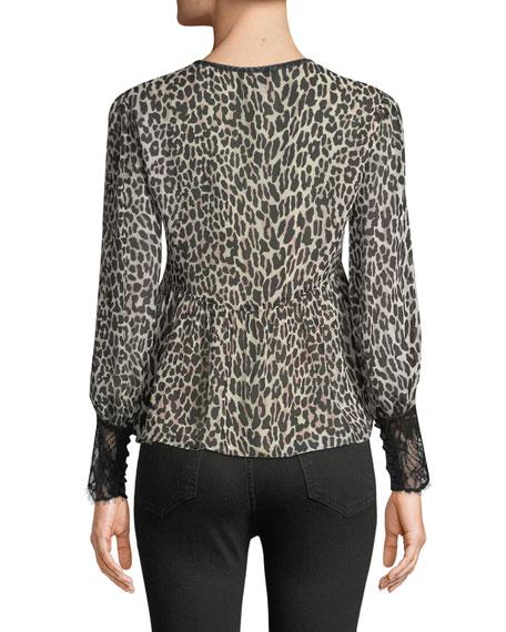 Brazen Blouse in Leopard-Print Silk