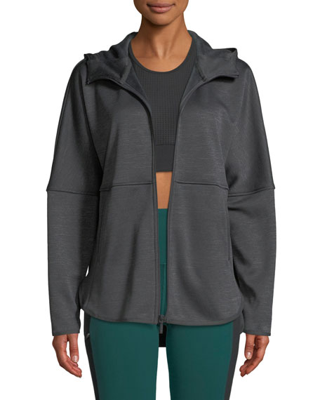 THE NORTH FACE Cozy Slacker Full-Zip Hooded Jacket in Dark Gray