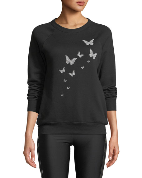 Ultracor BUTTERFLY SWAROVSKI CREWNECK SWEATSHIRT