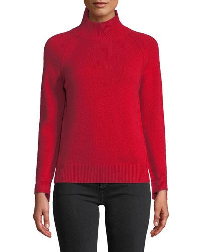 Cashmere Raglan Turtleneck Sweater