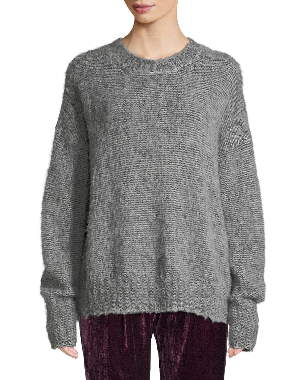 3530062008 Helmut Lang Brushed Wool-Blend Crewneck Sweater