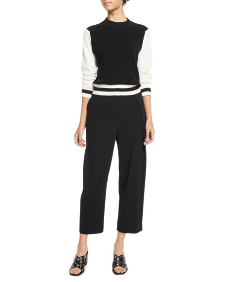 Jessa High-Rise Cropped Crepe Pants