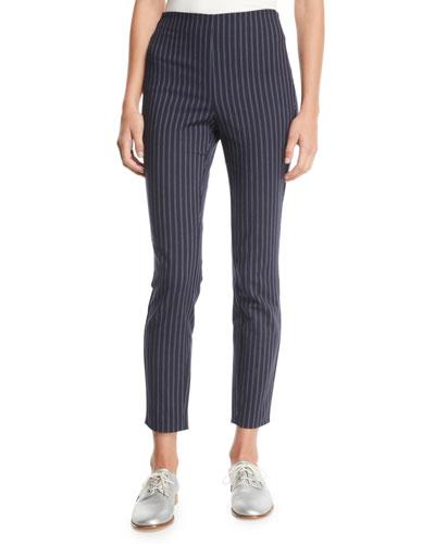 Simone Striped High-Rise Trousers