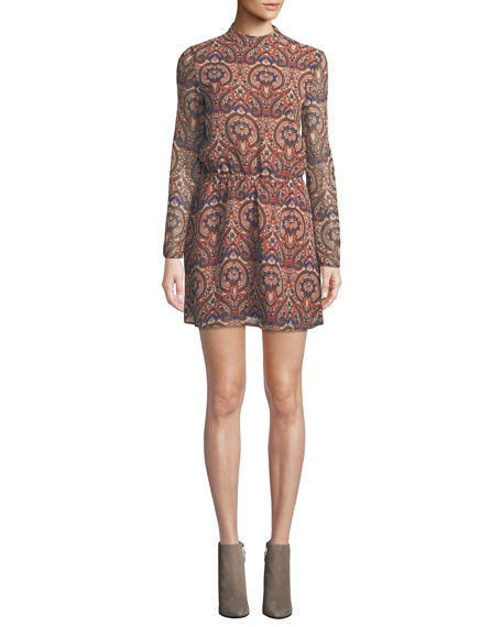 Cupcakes and Cashmere Malory Printed Tie-Back Short Dress