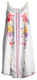 Peta Sleeveless Floral-Embroidered Dress