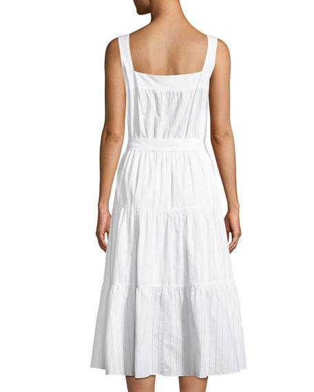 Tiered Sleeveless Midi Dress