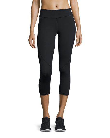 Alala Captain Cropped Leggings/Running Tights, Black