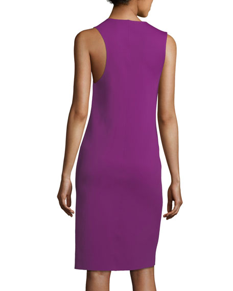 Scoop-Neck Sleeveless Asymmetric Tank Dress