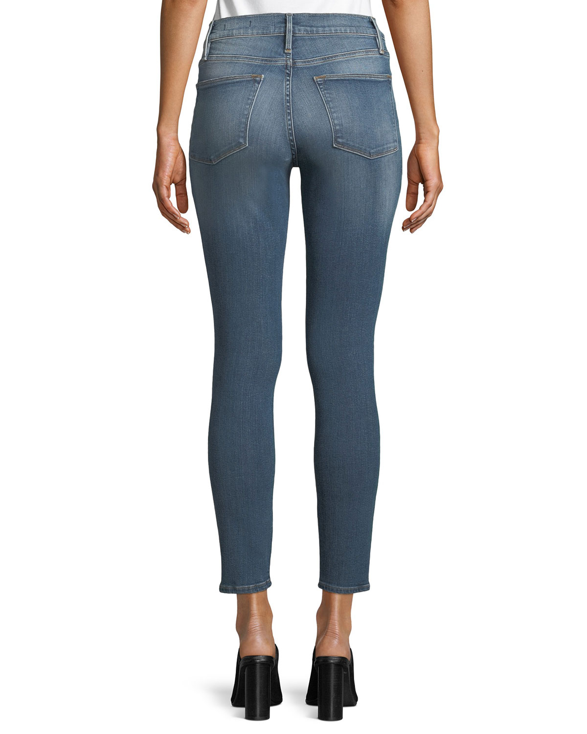 69fab451cf2 FRAME Le High Distressed Skinny Jeans | Neiman Marcus