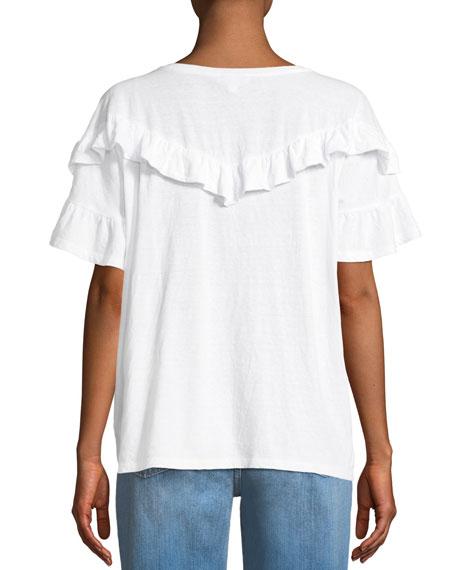 Adalie Ruffle Short-Sleeve Top