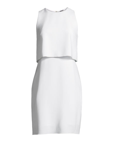 Kristine Georgette Dress with Popover