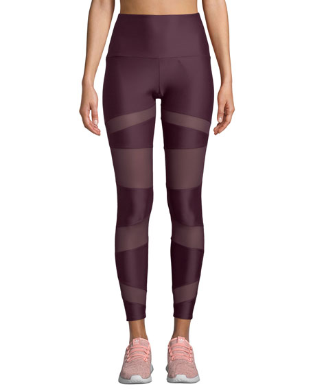 ONZIE BONDAGE PANELED HIGH-RISE YOGA LEGGINGS