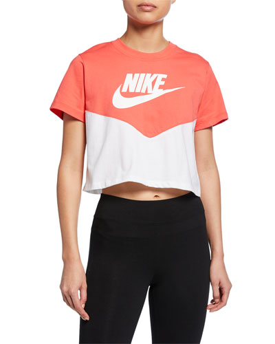 Heritage Colorblock Cropped Active Top