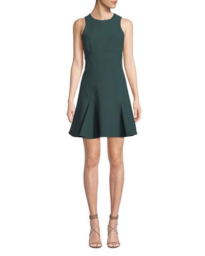 Elizabeth Sleeveless Flounce Mini Dress
