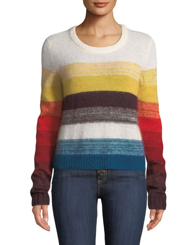 Alizeh Colorblock Mohair Pullover Sweater