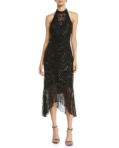 Aster Beaded Halter Gown
