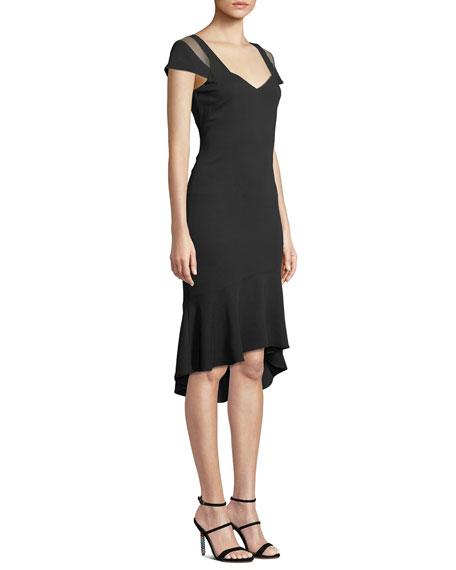 Grace Body-Con Dress w/ Cutout Illusion