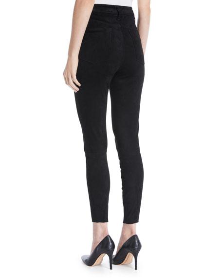 Mikah High-Rise Suede Skinny-Leg Pants