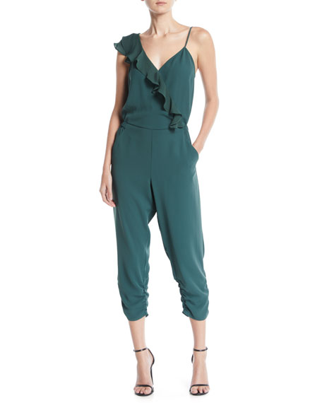 Addison Cropped Ruffle Combo Jumpsuit
