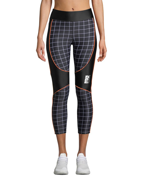 PE Nation The Hammer Throw Cropped Performance Leggings