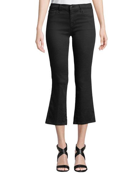 J Brand Selena Mid-Rise Crop Boot Jeans w/