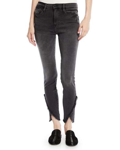 FRAME Le High Skinny Jeans with Frayed Tulip