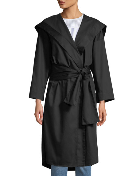 Monographie Hooded Long-Sleeve Belted Kimono Jacket