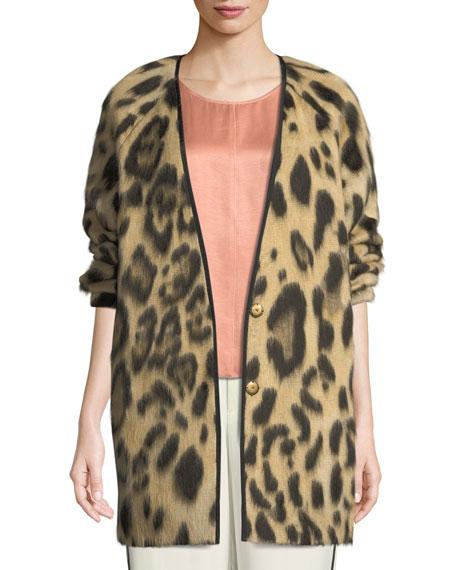 Forte Forte Savana Jacquard Animal-Print Sweater