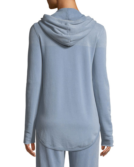 Croma Wash Zip-Front French Terry Hoodie Sweatshirt