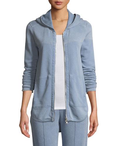 Croma Wash Zip-Front French Terry Hoodie Sweatshirt