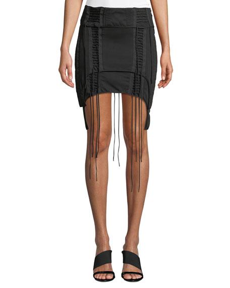Helmut Lang Aviator Lace-Up Mini Skirt