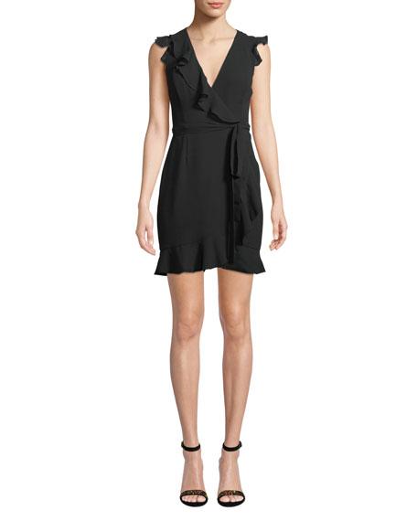 Fame and Partners Tiffany Mini Wrap Dress w/