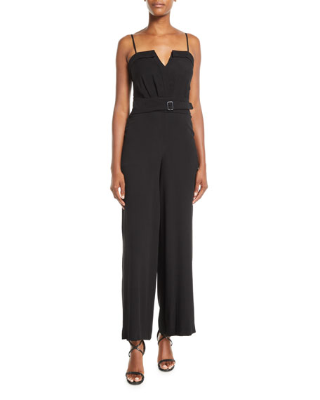 Fame and Partners Faris Georgette Jumpsuit w/ Belted