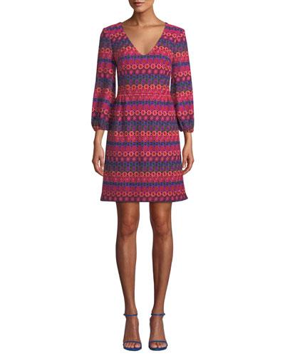 Nicole Crochet Dress w/ Bubble Sleeves