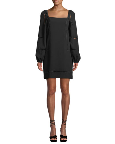 Natalia Bubble-Sleeve Mini Dress