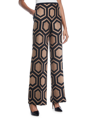Kern 2 Wide-Leg Pants in Geometric Print