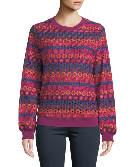 Trina Turk Marita Bubble Knit Long-Sleeve Top