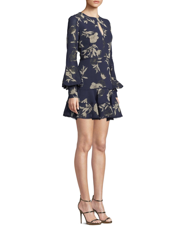 1b47c5e770 Bardot Tammy Eyelet-Trim Floral Short Dress | Neiman Marcus