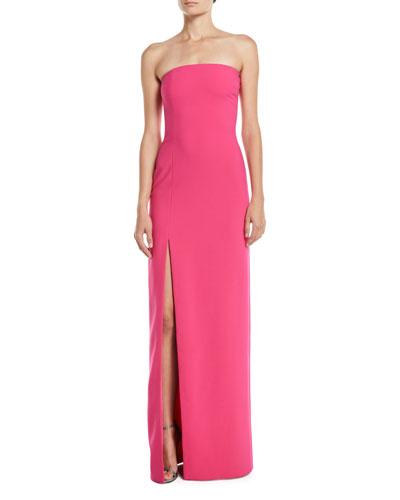 Palmer Strapless Gown w/ High Slit