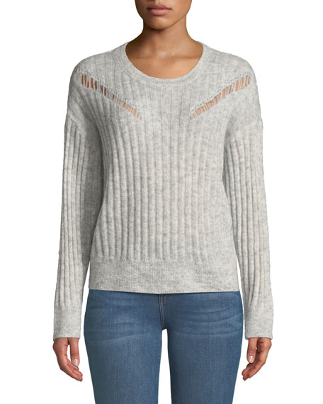 Opera Ribbed Pullover Sweater