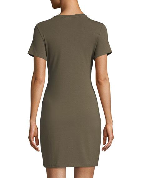 Knotted Short-Sleeve T-Shirt Dress