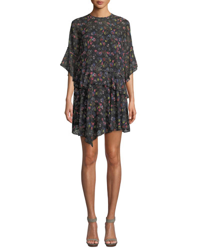 Paloma Floral Relaxed Mini Dress
