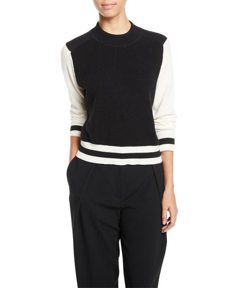 rag & bone/JEAN Dean Mock-Neck Wool Sweater